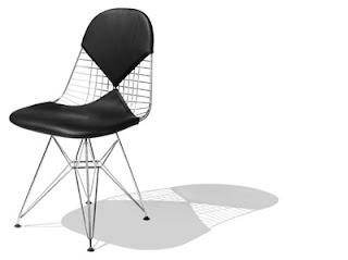 Silla Wire Ray y Charles Eames