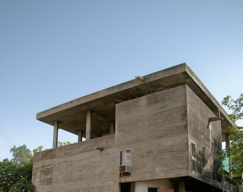 Casa Shodan De Le Corbusier 1956 India Blog