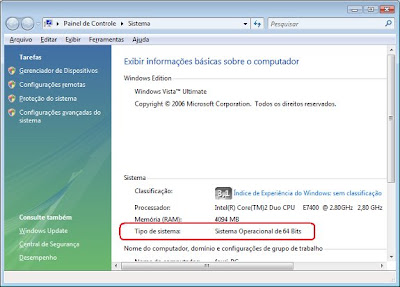 Pasta Sistema do Windows Vista.