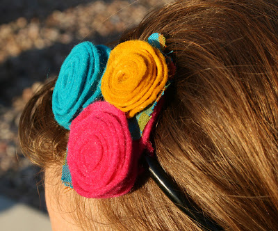 Handmade Ruffled Felt Flower Tutorial by The How-To Gal