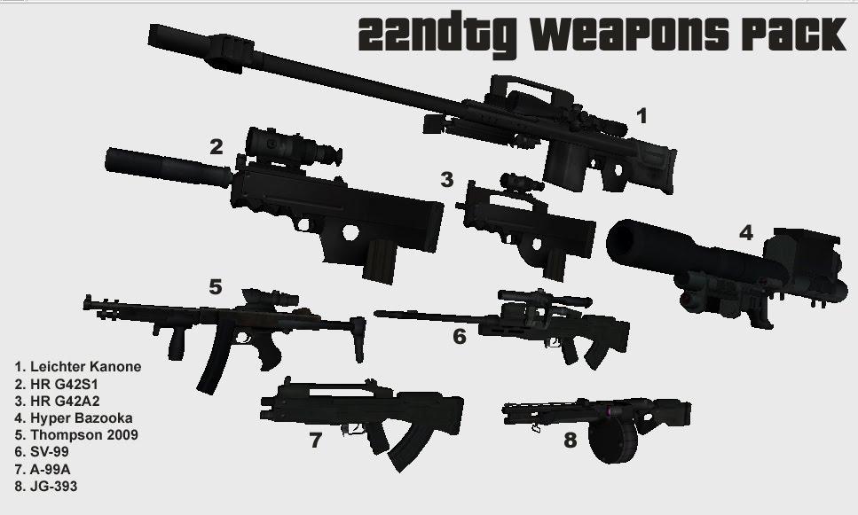 22ndTG Custom Weapons Pack II