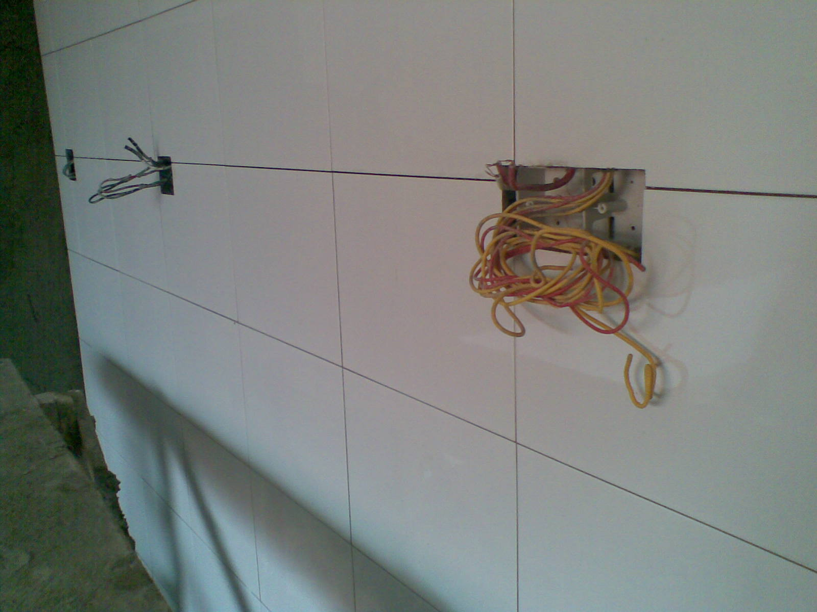 power outlet should be in the centre of the ceramic tiles..to repair