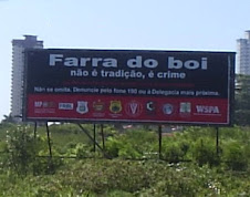 """JÁ ERA HORA: PROIBIDA A """"FARRA DO BOI"""""""