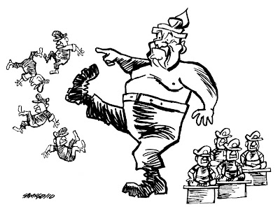 >Cartoon Saw Ngo – Shedding their uniforms