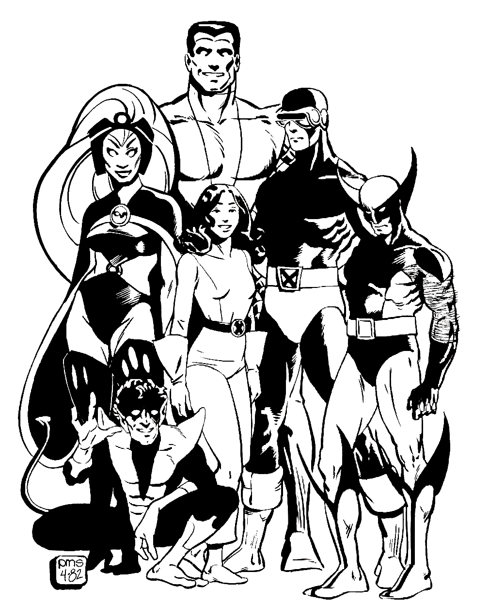 Coloring pages wolverine x men - The Dork Review Xmen Coloring Page For The Holidays