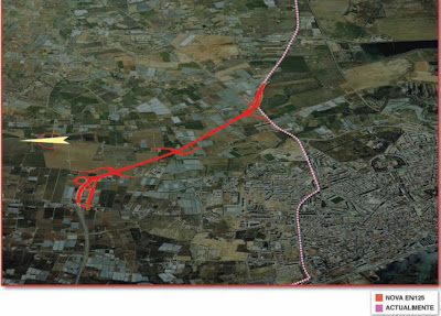 Lance de estrada que ligará a zona do Escuro (Faro) ao Rio Seco, projecto integrado no consórcio Algarve Litoral