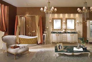 classic bathtub in classic bathroom decorating ideas from LINEATRE