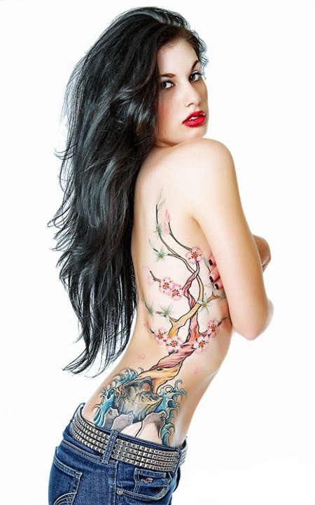 tattoo on girls side. side tattoos for girls. tattoo