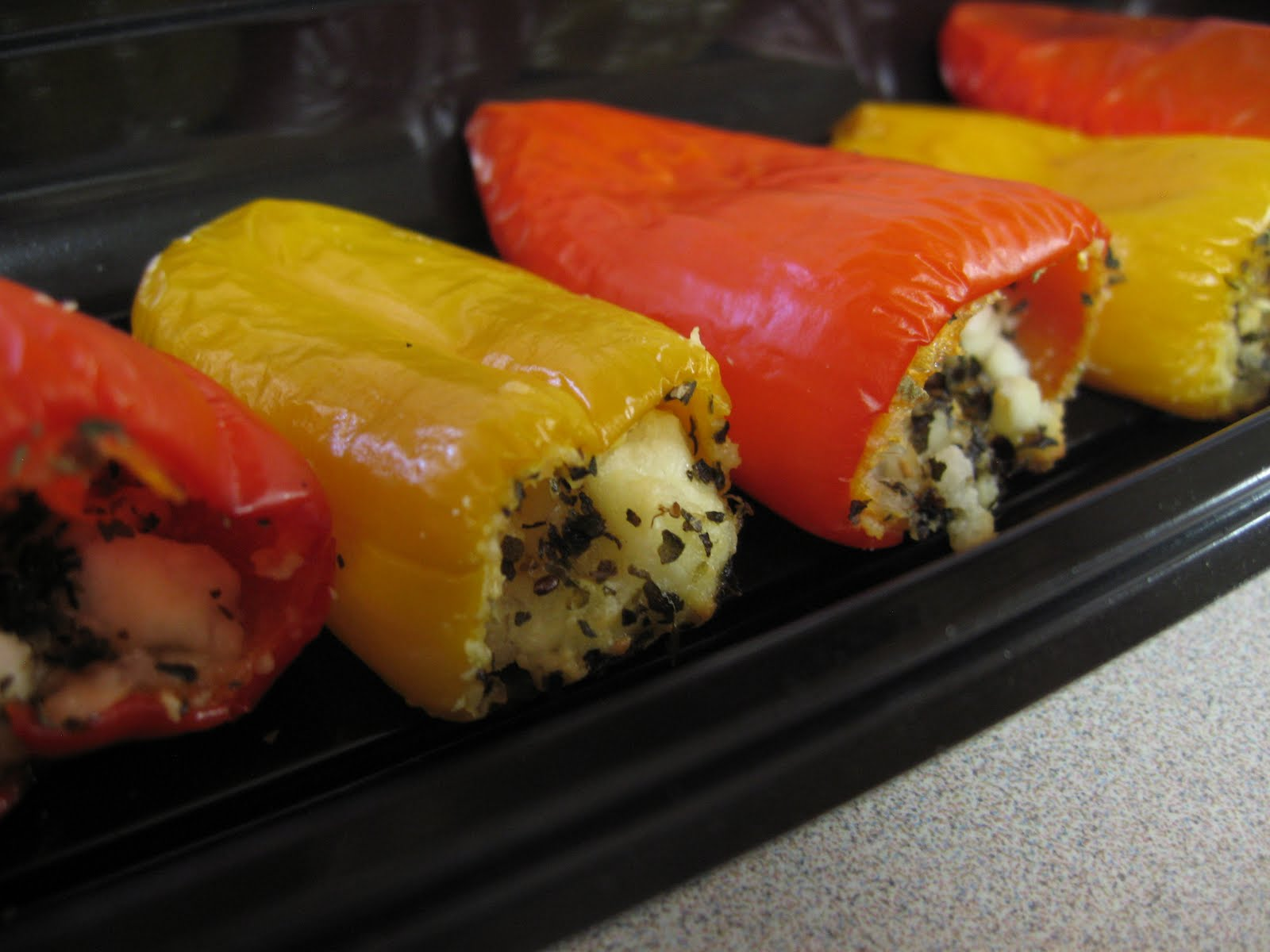 Nourish your body: Simple Feta Stuffed Sweet Peppers