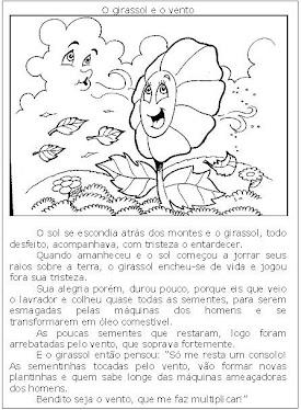 Texto: O girassol e o vento.