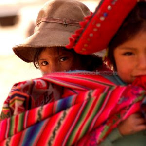 Indigenous children, Peru