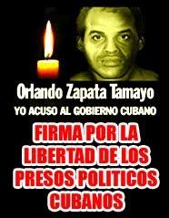 Firma por la libertad de los presos politicos cubanos