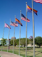 Flags on display at Margaret T. Hance Park in Phoenix