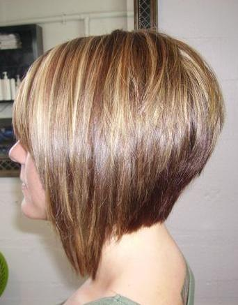 Short Layered Bob Haircuts Back View