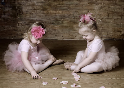 Southlake Childrens Photographers baby or toddler ballerinas photo