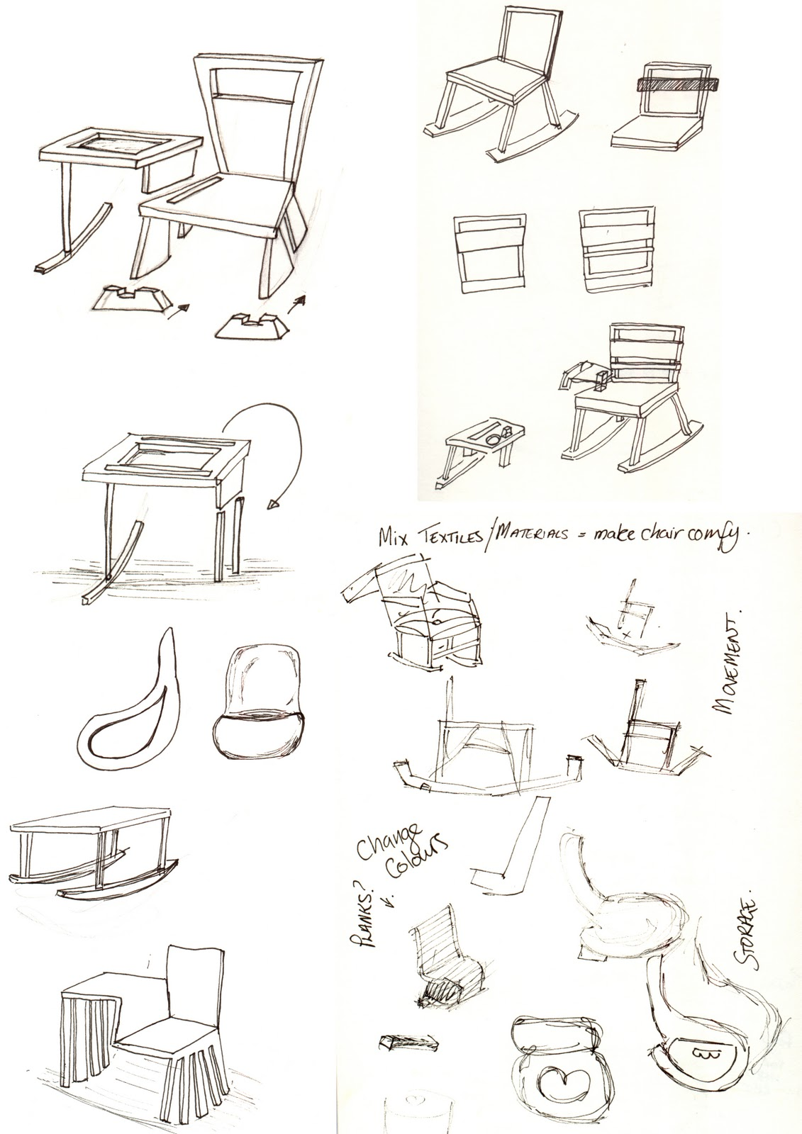 29 fantastic office furniture sketch for Furniture design sketches