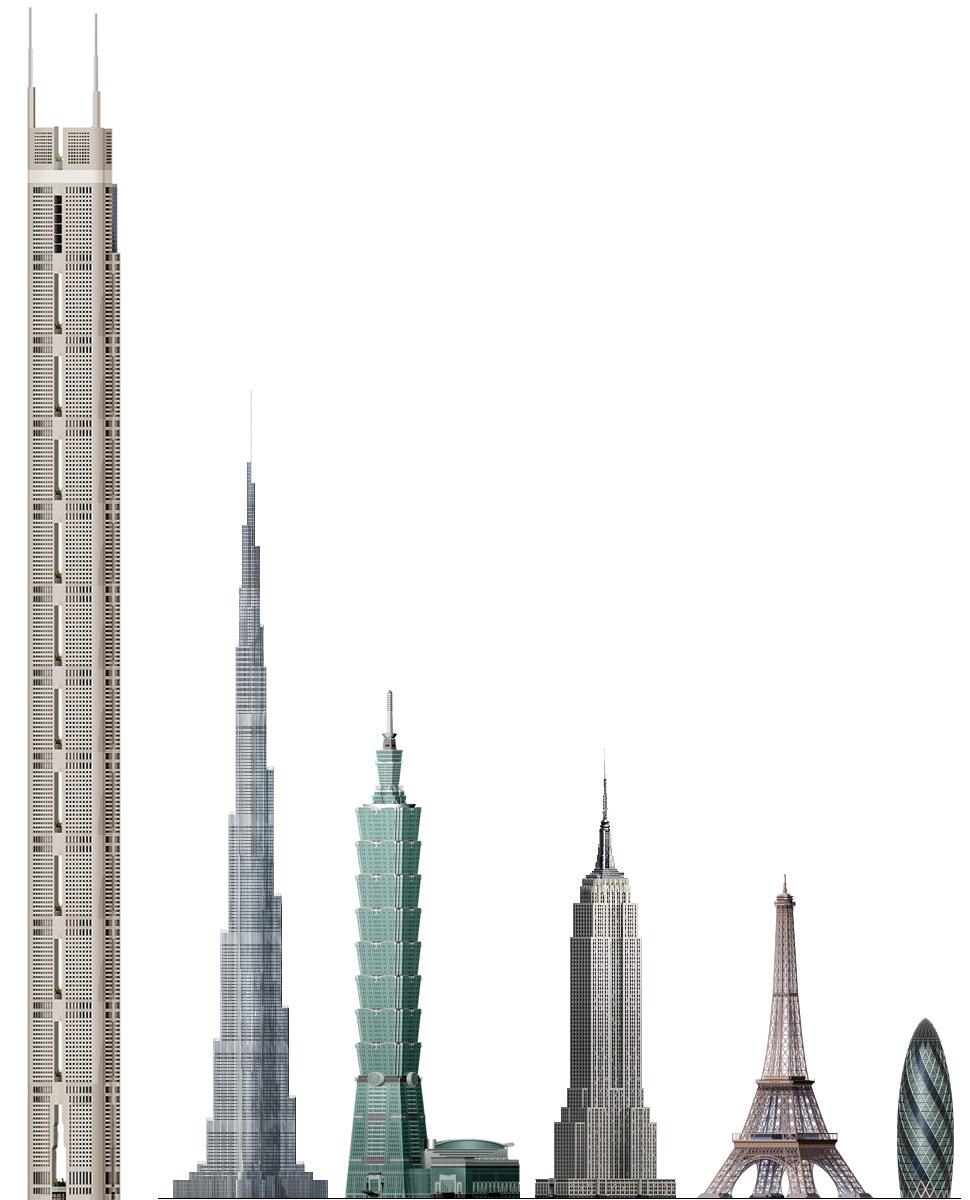 Orecchie pulite dal corviale orizzontale al for Grattacielo piu alto del mondo