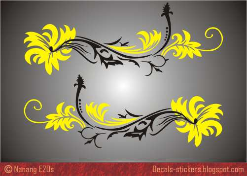 Flower Car Decals Stickers