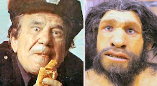 Joe E. Ross versus artist's conception of a neanderthal