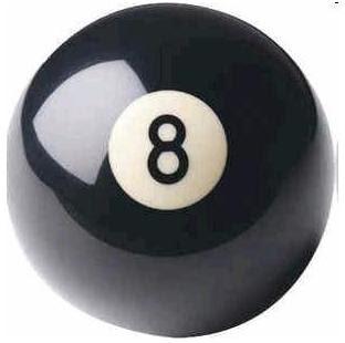Del 1 al 100 en versión imagen Eight-ball