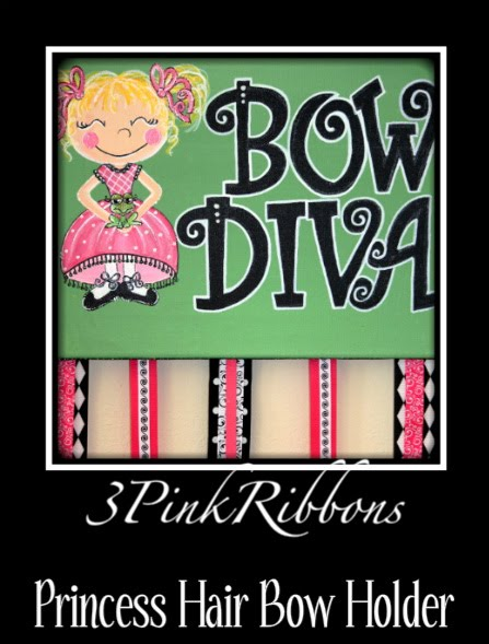 Bow DIVA Fairy Princess  Hair Bow Holder