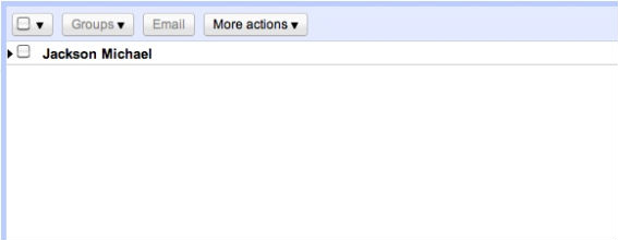 New Gmail Contact manager