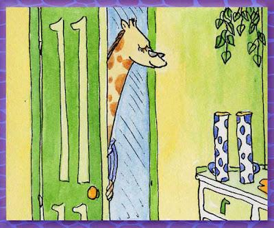 Giraffe mugs of tea - Raph's Ramblings by Ingrid Sylvestre UK artist & author