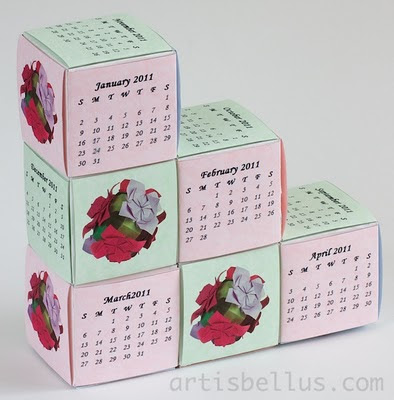 Business Cards Cubes Calendar
