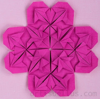Heart Flower - New Origami Model and Video