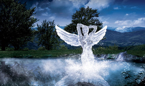 Create an Angelic Sculpture Made of Ice Photoshop tutorial
