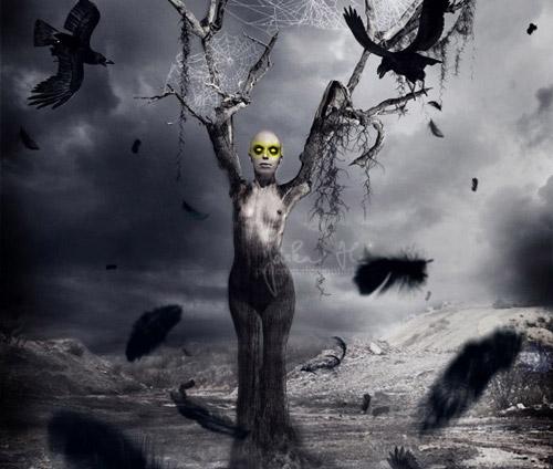 Terrifying Horror Photo Manipulation Photoshop tutorial