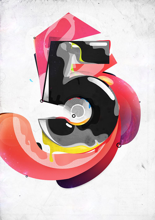 Create an Awesome Number-Based Illustration Photoshop tutorial