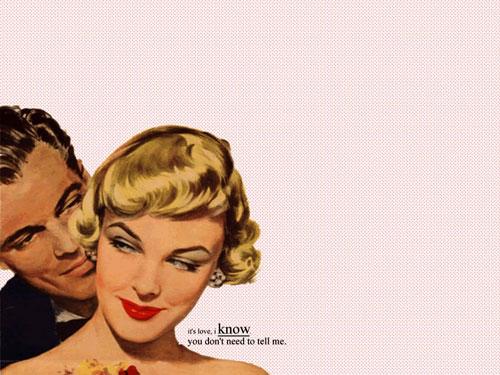 retro couple wallpaper