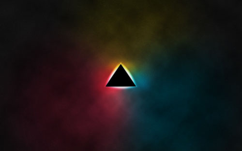 Retro triangle wallpaper