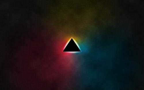 Retro triangle wallpaper