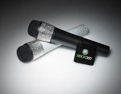 Xbox 360 Swarovski Crystal Studded Lips Microphone