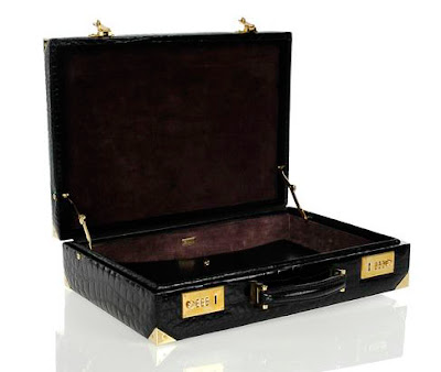Gucci Crocodile Attache Briefcase