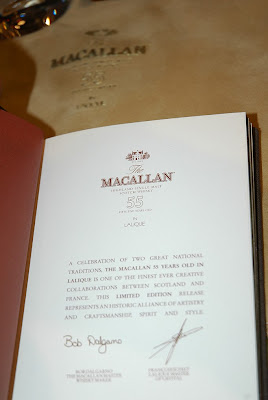MACALLAN 55 Year Old in Lalique
