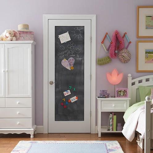 Creed chalkboard door for Chalk paint door