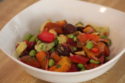Roasted Beet and Edamame Salad | it's my darlin'