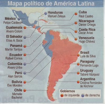 MAPA POLITICO DE AMERICA LATINA....