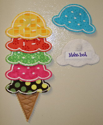 Diy Craft List Ice Cream Cone Chore Chart