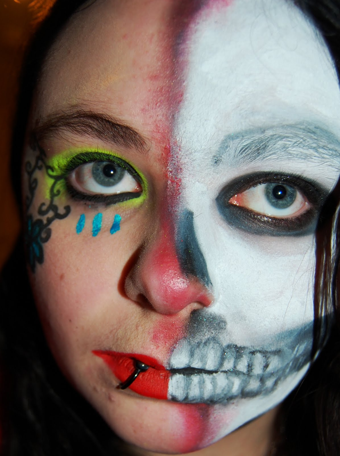 Day of the dead half face makeup