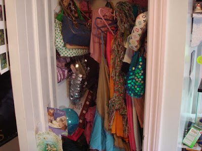 shoes escape crowded living conditions closet