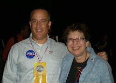 Jeff Strater pictured with Barbara Rosenberg