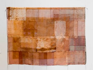 Extinction Wrap - a contemporary art quilt by Pamela Fitzsimons