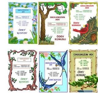 Biyoloji ve türkçe dersi katagorisindeki ödev kapaklarını