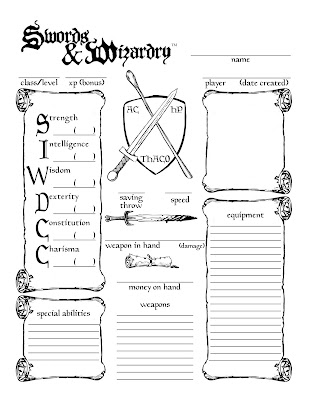 I've taken the opportunity to quickly retool a D&D character sheet I had