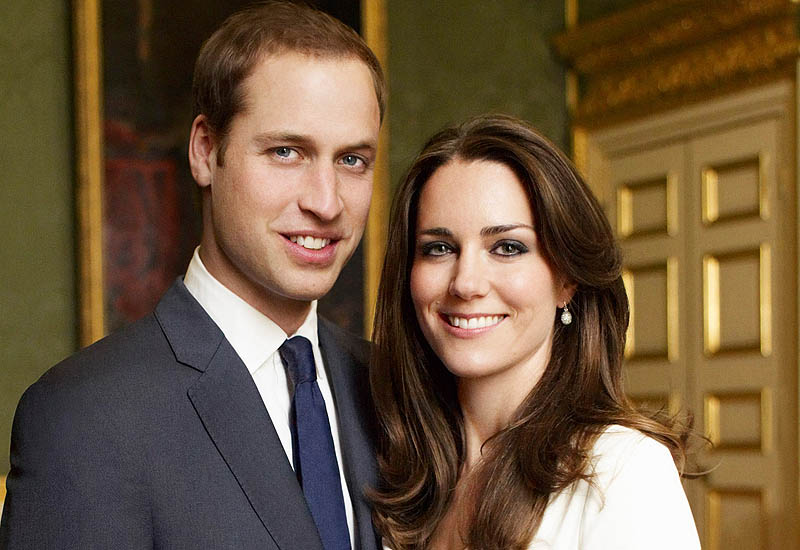 william and kate engagement photos official. in her official engagement