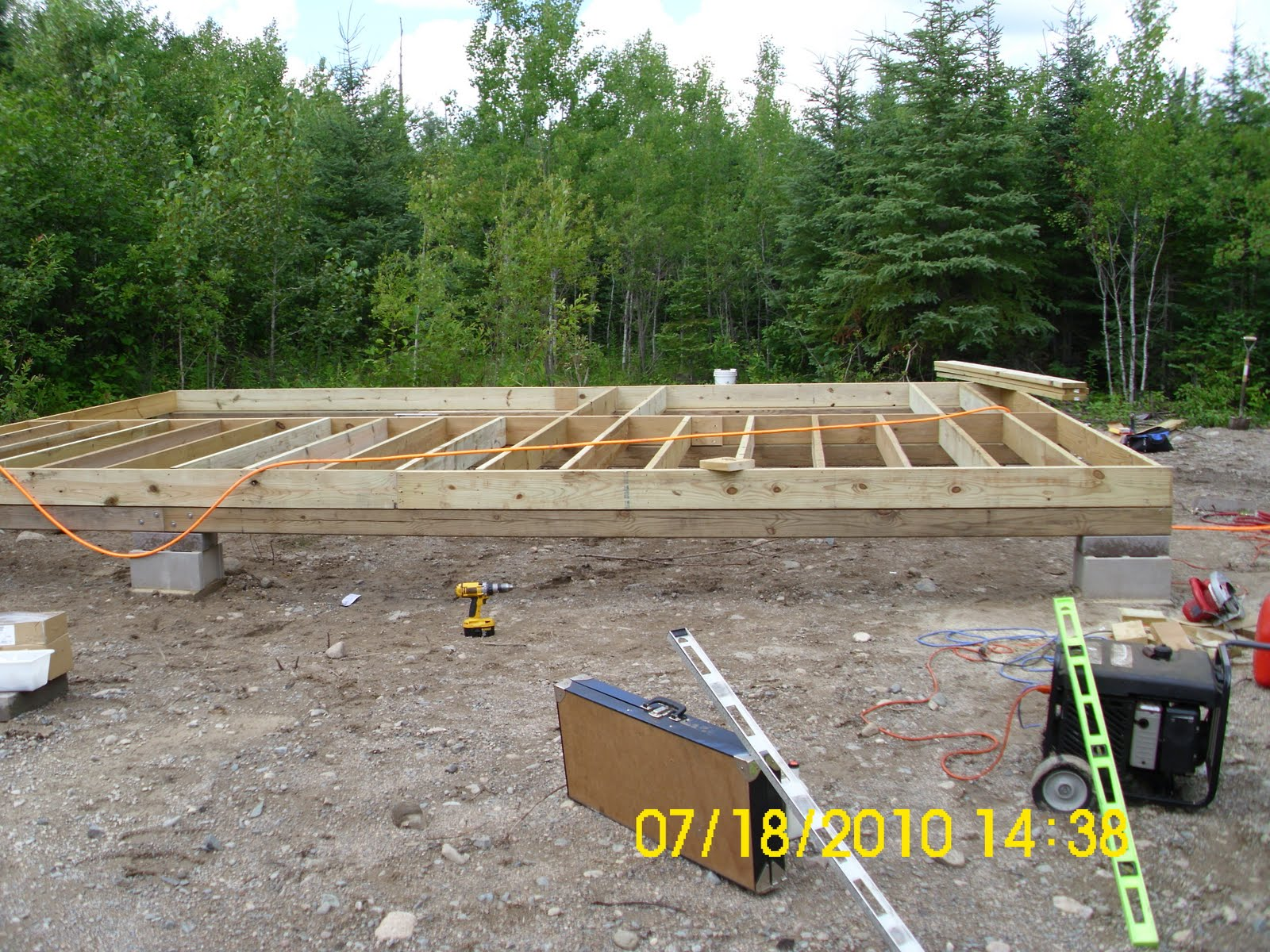 Off The Grid Cabin Build Foundation Block Piers